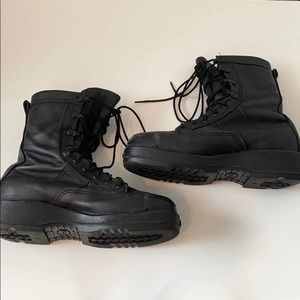 Navy Waterproof 800 Steel Toe Flight Boots